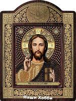 Набор для вышивки бисером икона в рамке-киоте СН8001 Христос Спаситель