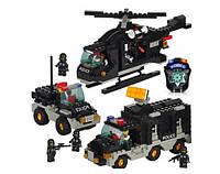 Детский игровой конструктор SLUBAN M3-B2100 Полиция (499 деталей)