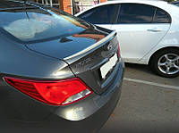 Спойлер багажника ( сабля, лип спойлер, утиный хвостик ) Hyundai Accen\Solaris 2015+ г.в. Хюндай Акцент