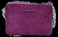 Прямоугольная женская сумочка на плечо MK фиолетового цвета QQN-075500, фото 1