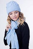 Комплект женская шапка и классический шарф РОМБ