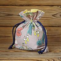 Подарочный мешочек на затяжках Тоторо, Ш150хВ190мм, фото 1