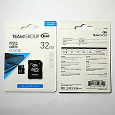 Карта памяти Team Group microSDHC 32GB Class 10 + SD адаптер (TUSDH32GCL1003), фото 3