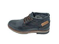 Мужские зимние ботинки с нат.кожи Multi Shoes Crack Black размеры: 40 41 42 43 44 45
