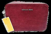 Прямоугольная женская сумочка на плечо MK бордового цвета QQN-075539, фото 1