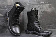 Армейские ботинки,зимние берцы натуральная кожа,черные, фото 3