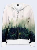 Женское худи Туманный лес