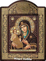 Набор для вышивки бисером икона в рамке-киоте СН8007  Богородица Троеручица