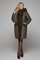 Комбинированное пальто зима 2018, каракуль большие размеры 50,60 р