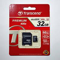 Карта памяти Transcend 32GB MicroSDHC UHS-I (TS32GUSDU1), фото 1
