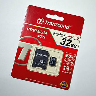 Карта памяти Transcend 32GB MicroSDHC UHS-I (TS32GUSDU1), фото 2