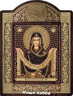 Набор для вышивания бисером икона в рамке-киоте СН8012 Покров Пресвятой Богородицы