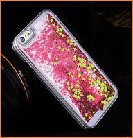 Чехол-накладка (Жидкий Блеск) Series 2 Star для IPhone 6/6s Hot Pink