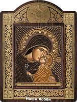 Набор для вышивания бисером икона в рамке-киоте СН8143 Св. Анна с младенцем Марией