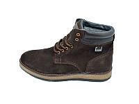 Мужские зимние ботинки с нат.кожи Multi Shoes Carpet GZ1 Brown размеры: 40 41 42 43 44 45