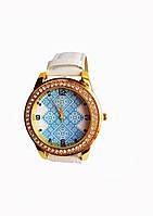 Часы кварцевые Вышиванка 2 белый ремешок