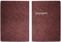"""Обложка для паспорта """"Бордовая ткань"""""""