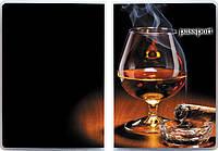 "Обложка для паспорта ""Виски и сигара"""