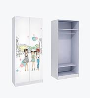 Шкаф для одежды с фотопечаттю