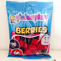 Жевательные конфеты без глютена Berries Dulceplus (малинки) Испания 100г