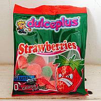 Жевательные конфеты без глютена Strawberries Dulceplus (клубнички) Испания 100г