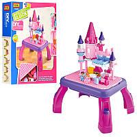 Конструктор 3688B замок принцессы, игровой столик, фигурки 2шт, 76дет, в кор-ке,44,5-58-12см