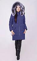 Зимняя удлиненная куртка с натуральным мехом