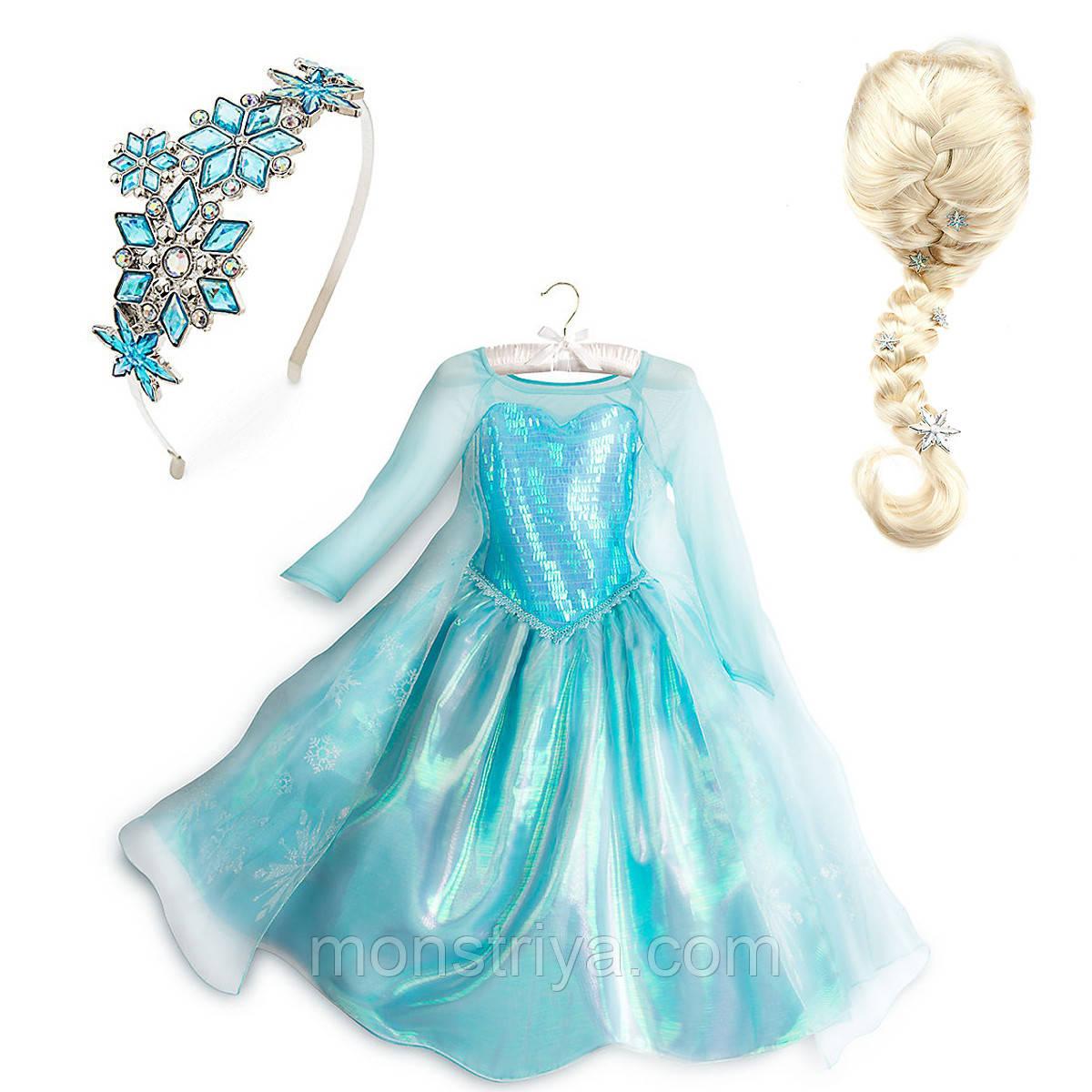 Карнавальный Костюм  королева Эльза Холодное сердце Frozen,Disney
