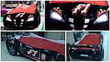 Детская кровать машинка гоночная машина белая F1, фото 8
