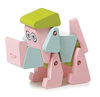 Деревянная игрушка  Cubika Собачка  14 деталей