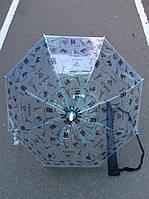 Зонт прозрачный с рисунком