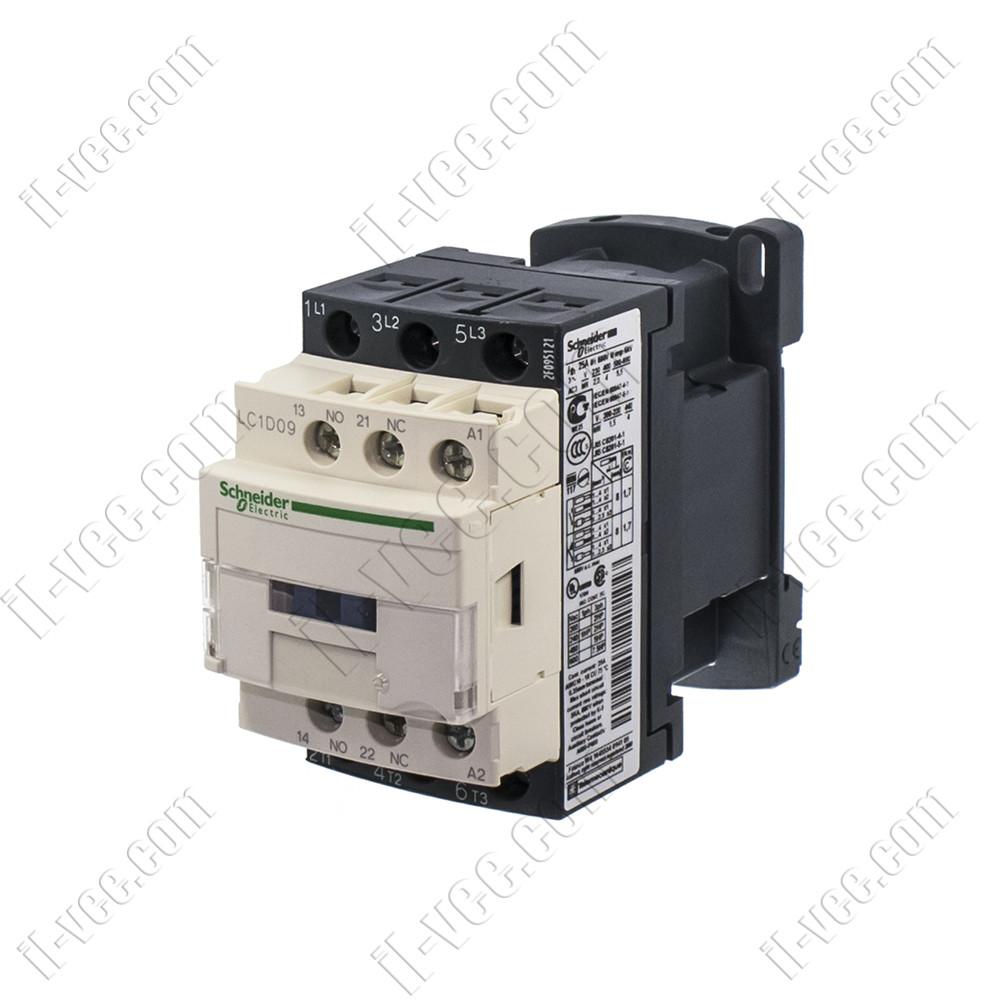 Контактор Schneider Electric LC1D09B7, AC-3 5.5kW 690V, 1NO+1NC, 24VAC