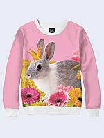 Женский свитшот Кролик в короне