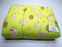 Детское стеганое одеяло (зеленое с барашками )