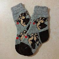 Детские теплые шерстяные носочки Зайчик 16 см, р. 26-27