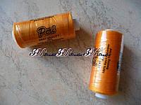 Нитки швейные №032 оранжевые 100% полиэстер 400 ярдов