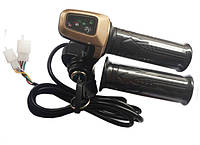 Ручка газа со светодиодным индикатором заряда 36V и замком зажигания