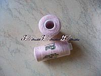 Нитки швейные №002 светло-розовый 100% полиэстер 400 ярдов