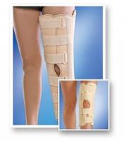 Бандаж на коленный сустав с ребрами жесткости с усил. фикс. (размер M/L, XL/XXL) MedT(Art. 6112 люкс)
