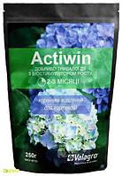 Комплексное минеральное удобрение для гортензий Actiwin (Активин), 250г, NPK 9.16.14+ME, 2-3 мес., TM RosLa (Росла)