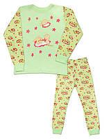 Детская пижама (кофта и брюки)  (Зелёный с красным (солнце))