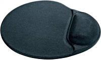 Коврик для мыши Gembird гелево-тканевый MP-GEL с валиком под запястье, черный