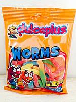 Жевательные конфеты без глютена Worms Dulceplus (червячки) Испания 100г