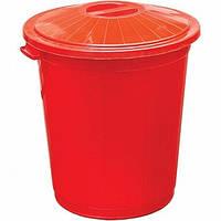 Бак для мусора Ал-Пластик с крышкой 50 л N40523092