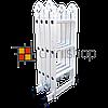 Алюминиевая лестница трансформер 4 секции по 3 ступени Moller MR 70101, фото 2