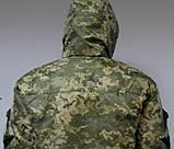 Куртка утеплена синтепоном + мех темный пиксель, светлый и темный дубок., фото 2