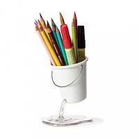Подставка для канцелярских принадлежностей Desk Bucket Peleg Design, белая