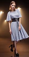 Платье Nova Line-5695 белорусский трикотаж, синий, 42