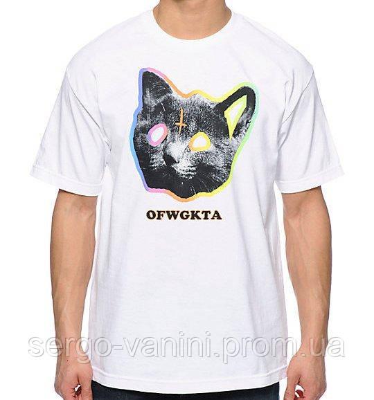 Odd Future Tron Cat • Футболка OFWGKTA мужская белая • Топовая бирка