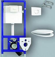 Инсталяционная система на раме , прокладкой , креплением и хромированной кнопкой 90.750.00.S010